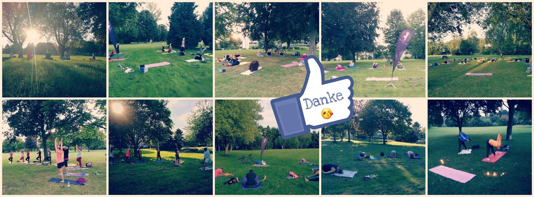 Yoga im Burgpark